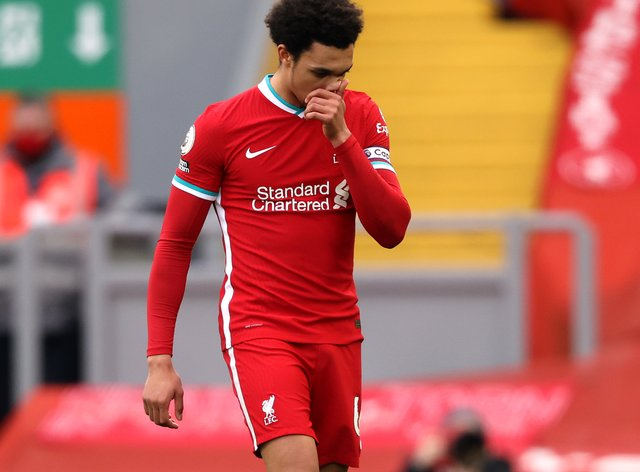 Liverpool's Trent Alexander-Arnold has been left out of the England squad