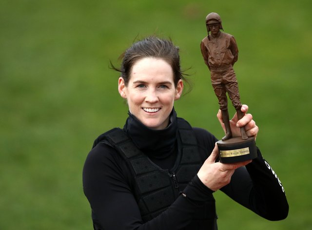 Rachael Blackmore with her top jockey trophy