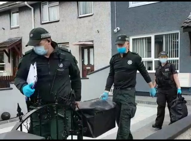 Five men have been arrested following raids targeted alleged drug dealing by a paramilitary group in Northern Ireland