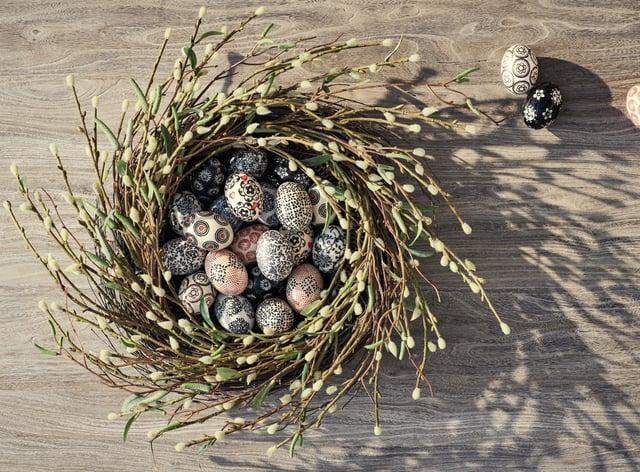 Ostara Ceramic Egg Decorations from OKA