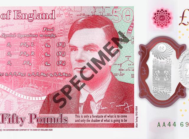 Alan Turing banknote