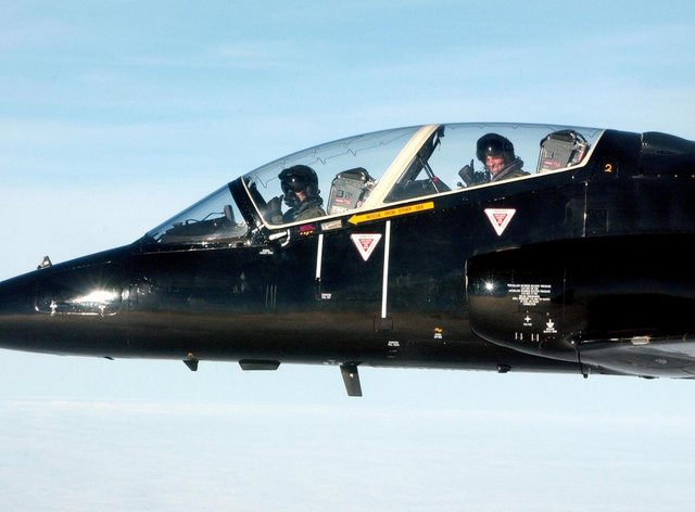 A Hawk jet has crashed in Cornwall after the two pilots ejected (PA).