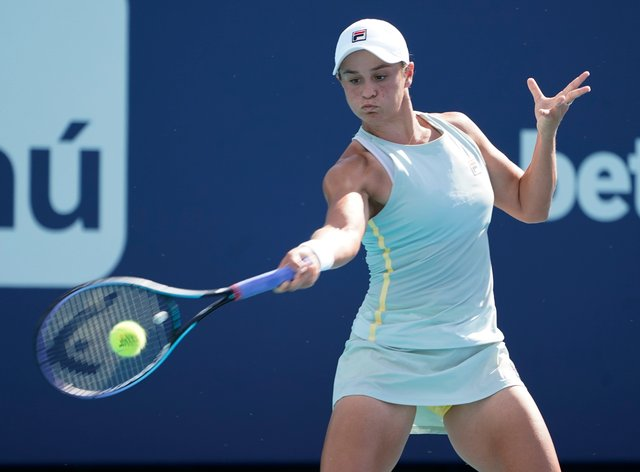Ashleigh Barty won the final five games to beat Kristina Kucova