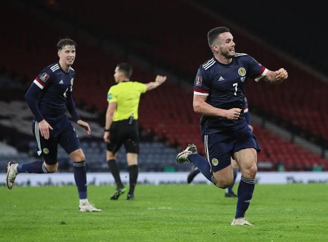 John McGinn scored Scotland's equaliser late on