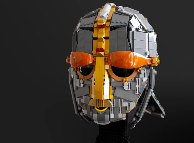 The Lego replica of the Sutton Hoo helmet