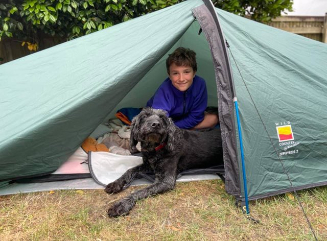 Max Woosey and his dog Digby