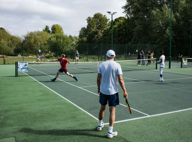 A combination of coronavirus restrictions and grassroots initiatives drove a tennis boom in 2020