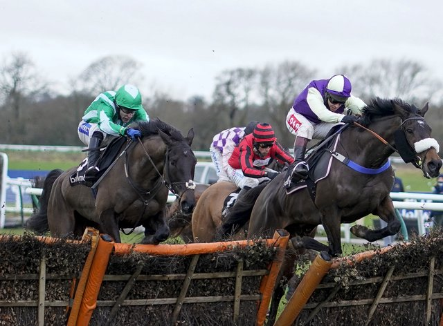 Adrimel (leading) may be seen at Aintree next month