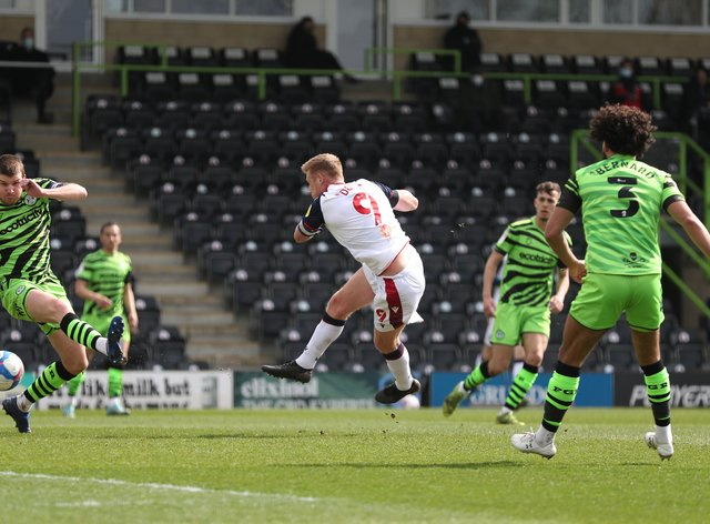 Eoin Doyle scores Bolton's winner at Forest Green