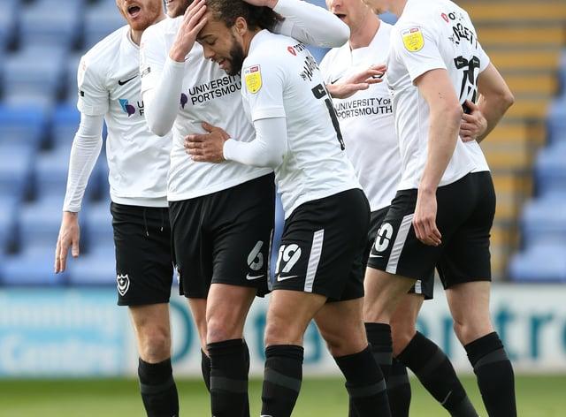 Portsmouth celebrate a goal