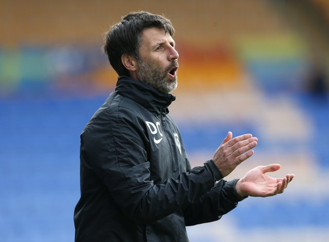 Danny Cowley on the touchline
