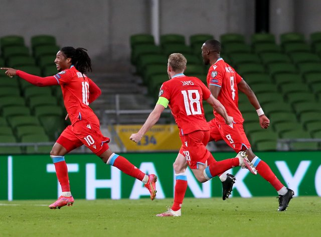 Luxembourg's Gerson Rodrigues fired his side to a shock victory over the Republic of Ireland