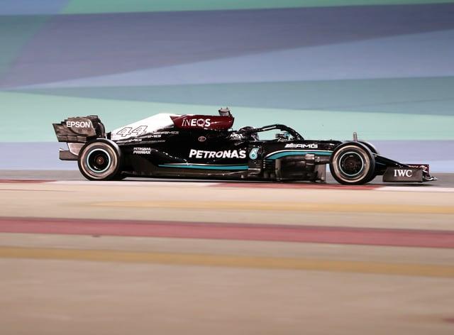 Lewis Hamilton won the season-opening Bahrain Grand Prix