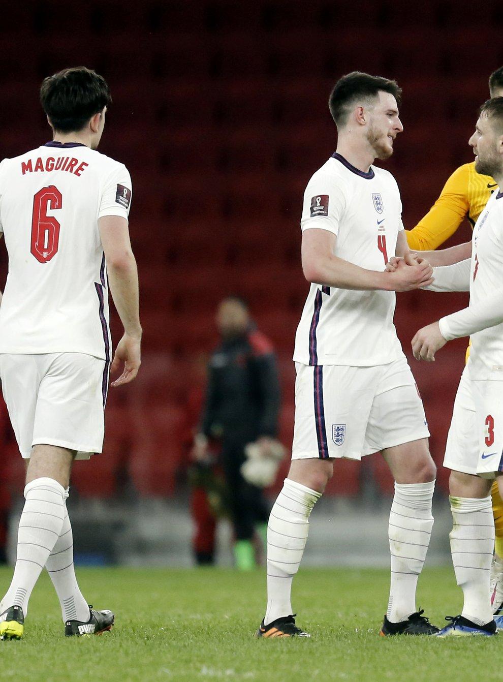 Luke Shaw (3) was back in the England fold on Sunday