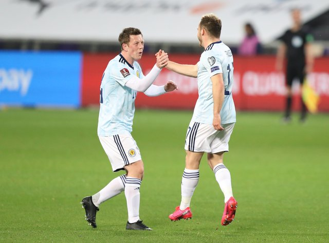 Scotland earned a draw in Israel thanks to a second-half strike from Ryan Fraser, right