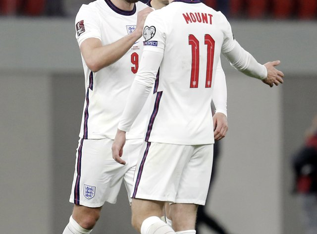 Mason Mount and Harry Kane scored the goals as England beat Albania in their World Cup qualifier