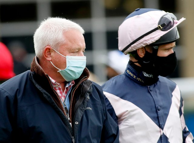 Trainer Jedd O'Keeffe (left)