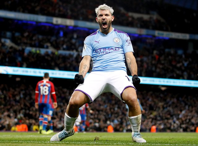 Sergio Aguero has scored 257 goals in 384 appearances for Manchester City (Martin Rickett/PA).