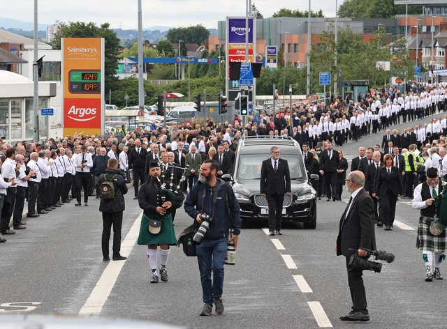 Bobby Storey's funeral procession