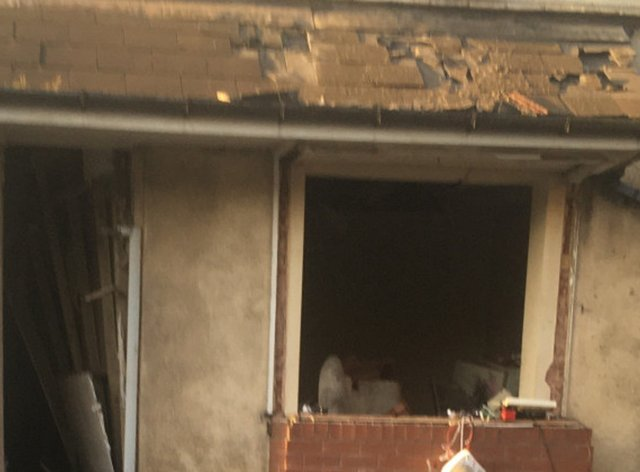 Damage caused by the gas blast in Walsall