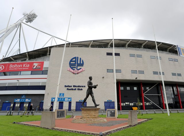 Two temporary courtrooms have been set up at the University of Bolton Stadium