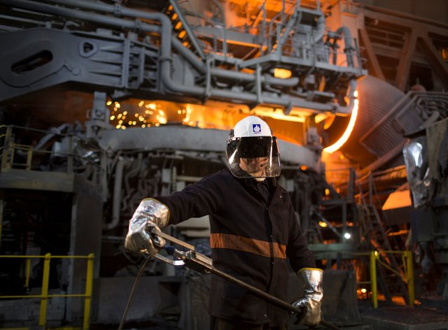 A worker at Liberty Steel in Rotheram