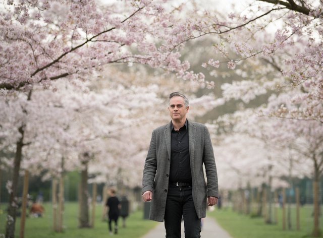 Green Party co-leader Jonathan Bartley at Battersea Park in south London (Stefan Rousseau/PA)
