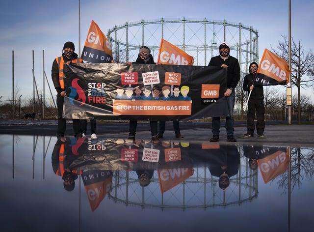 Striking British Gas workers