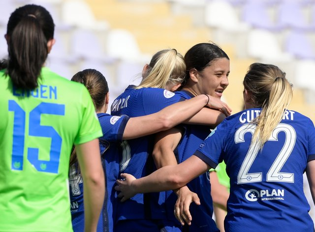 Chelsea sealed their place in the last four of the Women's Champions League in Budapest