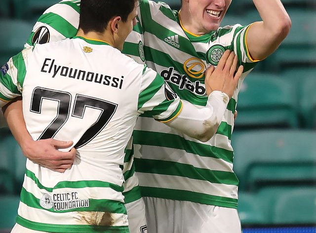 David Turnbull, right, believes his strike at Lille was the turning point for his stalling Celtic career