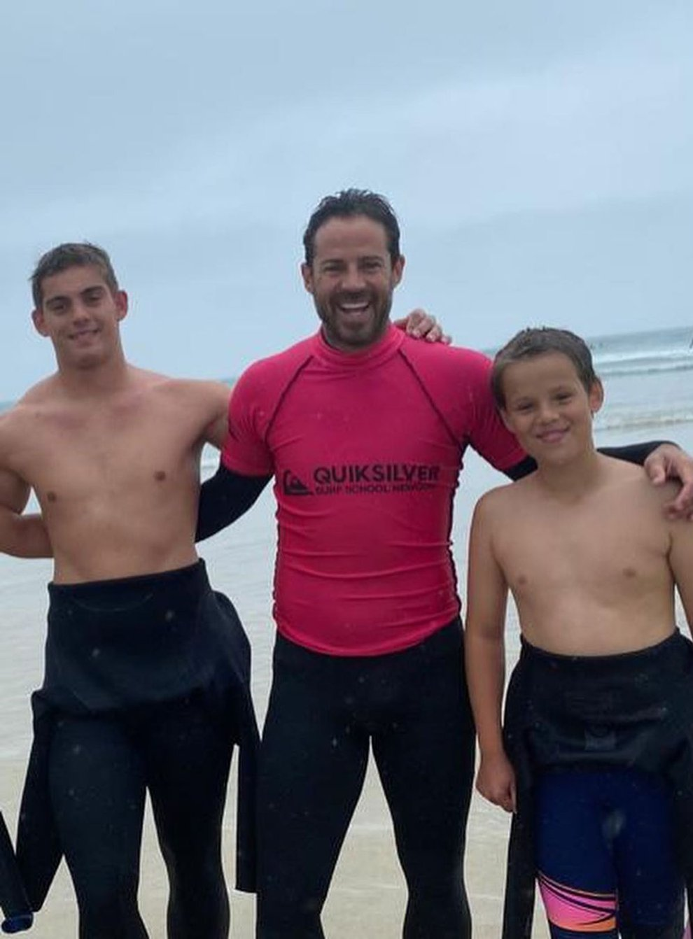Jamie Redknapp with his sons, Charley, 16, and Beau, 12 (Jamie Redknapp/PA)