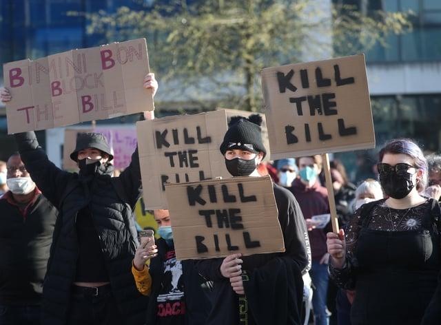 'Kill The Bill' protest – Southampton