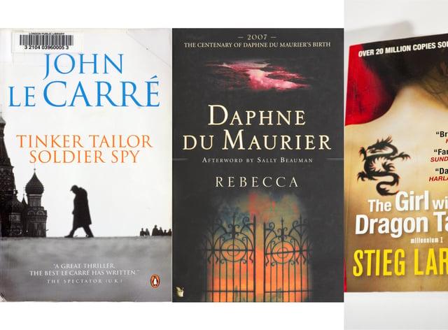 Composite of thriller novels