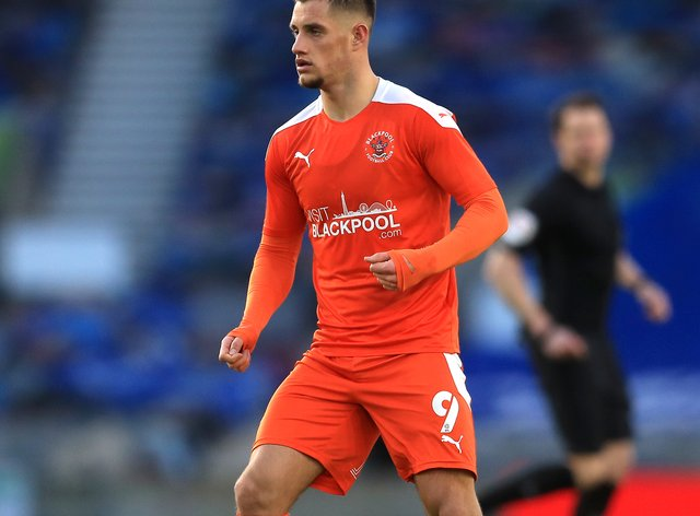 Jerry Yates bagged a brace for Blackpool against Gillingham