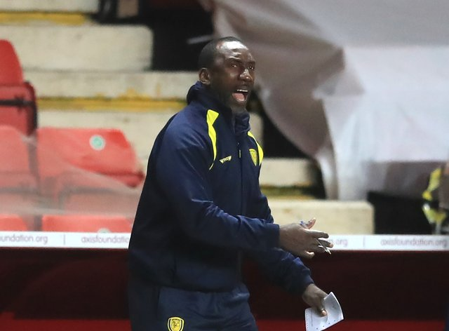 Jimmy Floyd Hasselbaink admitted Burton were made to battle for their win over Swindon