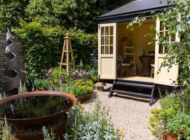 office in garden