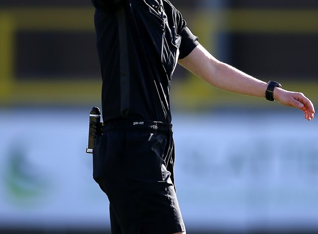 Rebecca Welch made history by refereeing Harrogate's Sky Bet League Two fixture against Port Vale