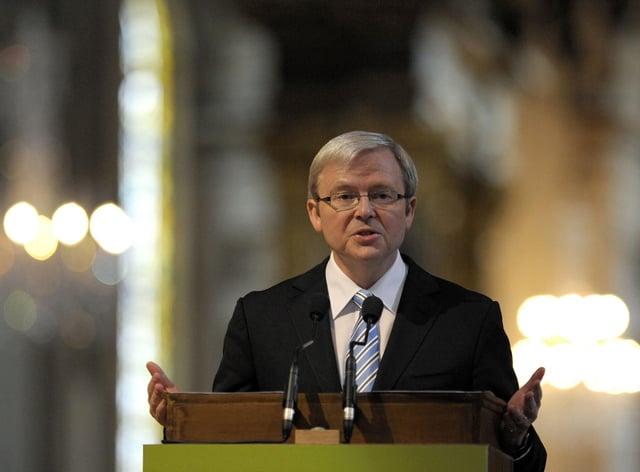 Kevin Rudd, the former prime minister of Australia