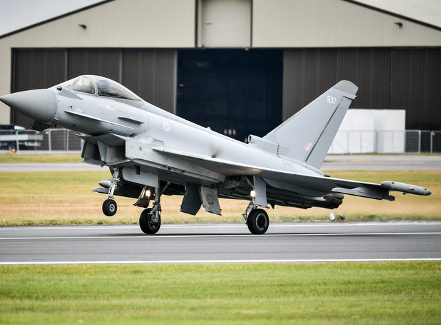 The RAF used Typhoon FGR4 aircraft to help conduct the strike against IS terrorists