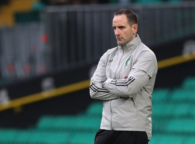 Celtic interim boss John Kennedy on the touchline