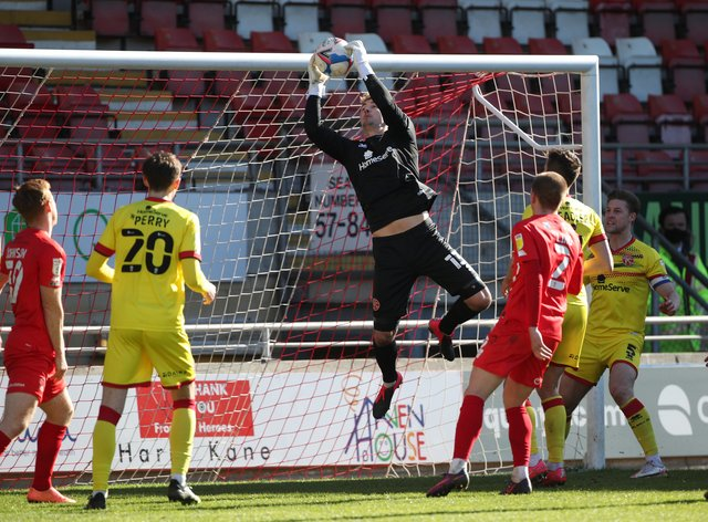 Walsall goalkeeper Jack Rose kept a clean sheet on his return to the team against Leyton Orient