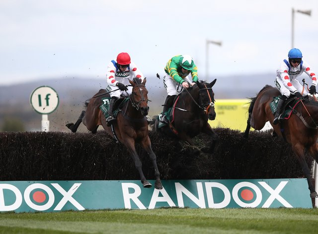 The victory of Protektorat (left) in the SSS Super Alloys Manifesto Novices' Chase gave bookmakers the platform to have the edge over punters on day one of the Grand National meeting at Aintree