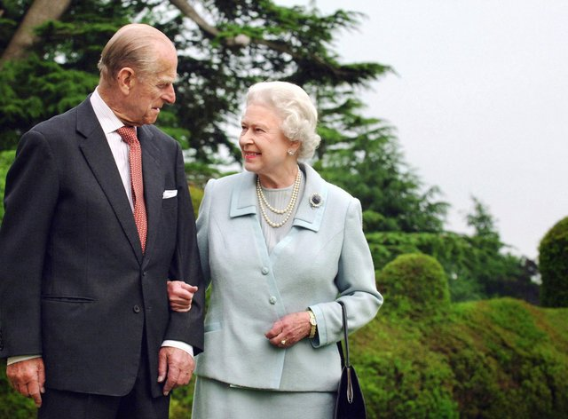 Philip with the Queen