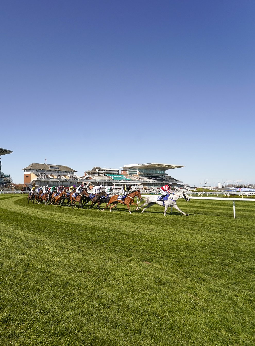 Runners and riders at Aintree on Friday