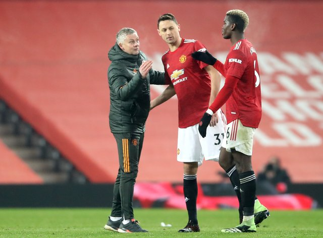 Ole Gunnar Solskjaer says the red stadium wrap at Old Trafford has been problematic