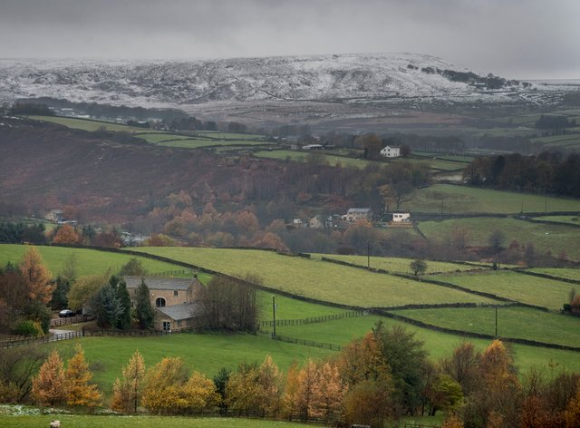 View of the Peak District National Park