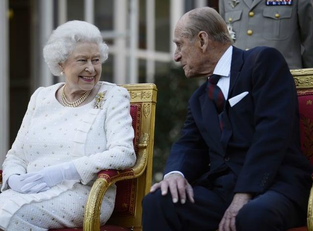 The Queen and Duke of Edinburgh in Paris (Owen Humphreys/PA)