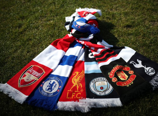 A selection of scarves pictured at Hackney Marshes