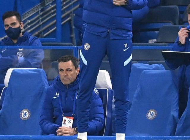 Chelsea manager Thomas Tuchel on the touchline