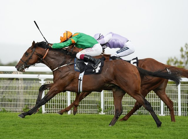 Lone Eagle (left) attempts to stake claim for Classic honours at Sandown